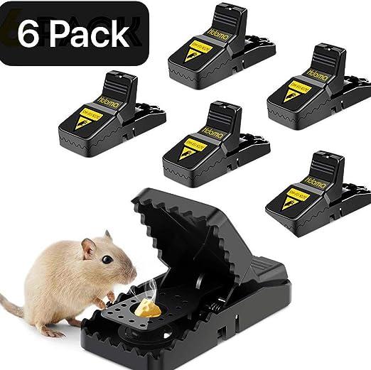 reutilizable y f/ácil de usar seguro y efectivo 6 unidades Trampa para ratas Fulfun para interiores y exteriores