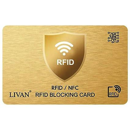 LIVAN® L8 - Tarjeta de crédito antiRFID/NFC para Tarjetas ...