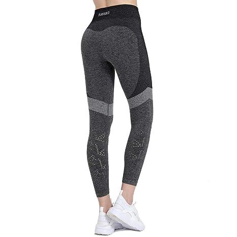 a62a74ba559a3 PLAYBOLD Women Workout Leggings High Waist Comfort Seamless Workout Pants  Gym Leggings Fitness Pants Yoga Pants