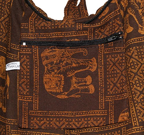 Brown Hippie Matrix Hipster Shoulder Hobo Elephant Bag Crossbody Bohemian Boho 5RqFxz8