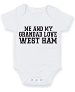 eb749cb53 Me and My Grandad Support West Ham Baby Vest Hat and Bib Set ...