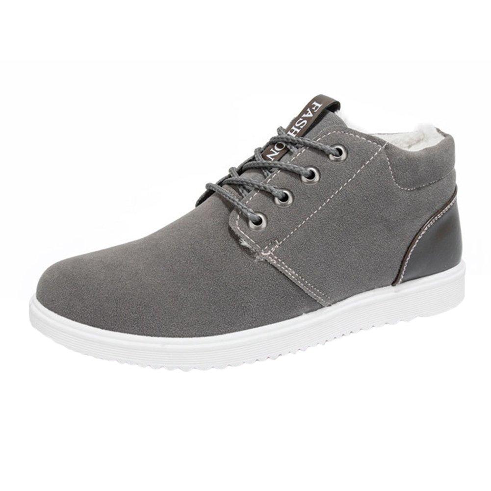 Kootk Hombres Zapatos Casual Low-Top Zapatillas Con cordones Zapatos Nieve Botas Calentar Forrado Invierno Zapatos Al aire libre Plano Zapatos Entrenadores T171025MS1-K