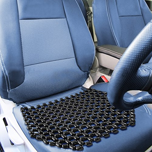 Zone Tech Double Strung Wooden Beaded Ultra Comfort Massaging Seat Cover