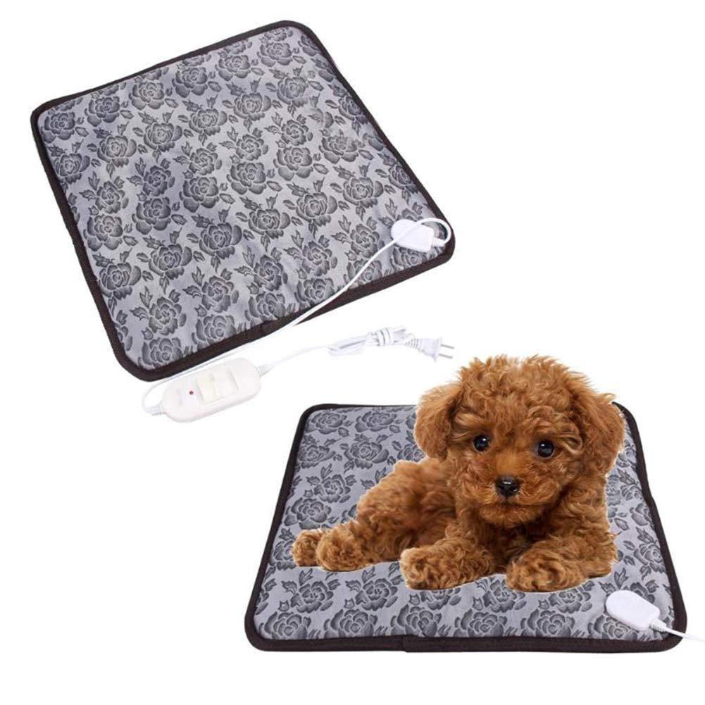 Pet Heating Pad, Dog Cat Electric Heating Pad Indoor Waterproof Adjustable Warming Mat