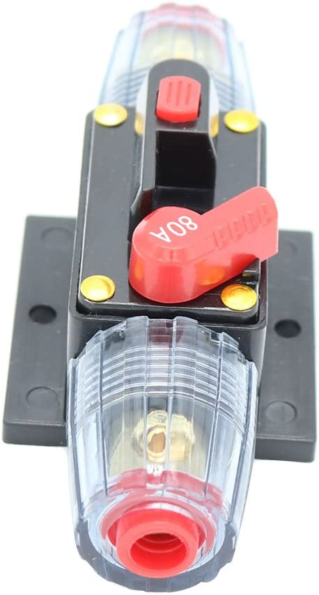 WINOMO 10 Amp Circuit Breaker in-Line Reset Fuse Stereo-Audio Protection for Car RV Boat Marine
