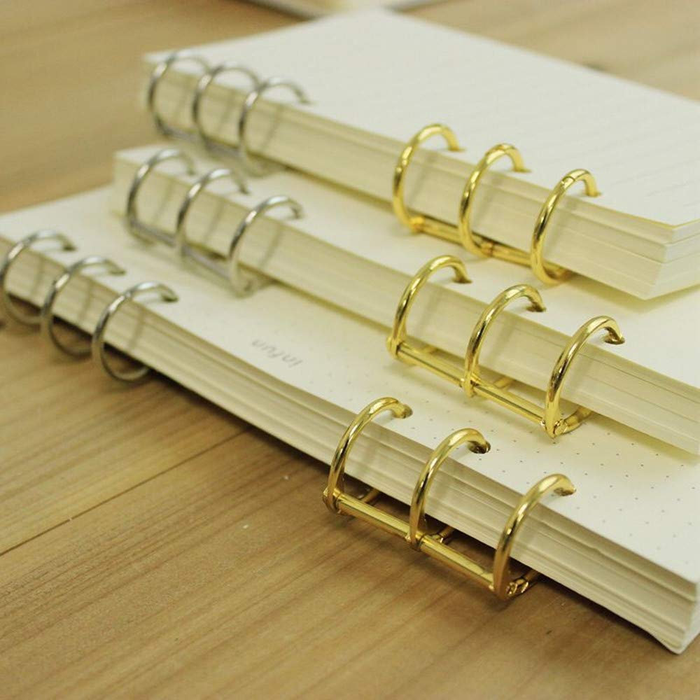 10 Pcs Book Rings,Easy to Open and Close Solid Metal Rings 3//4 inch Bronze 3-Ring Metal Loose Leaf Binder Ring Clips for Notebook Diary Photo Album DIY Planner