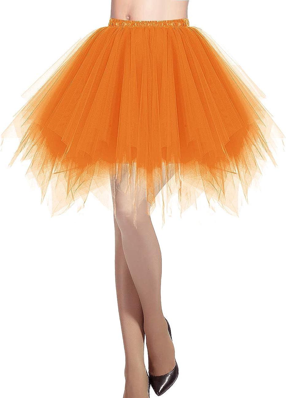 DRESSTELLS Mujeres Fladas Enaguas Cortas Tul Plisada Fiesta Vintage Retro Ballet