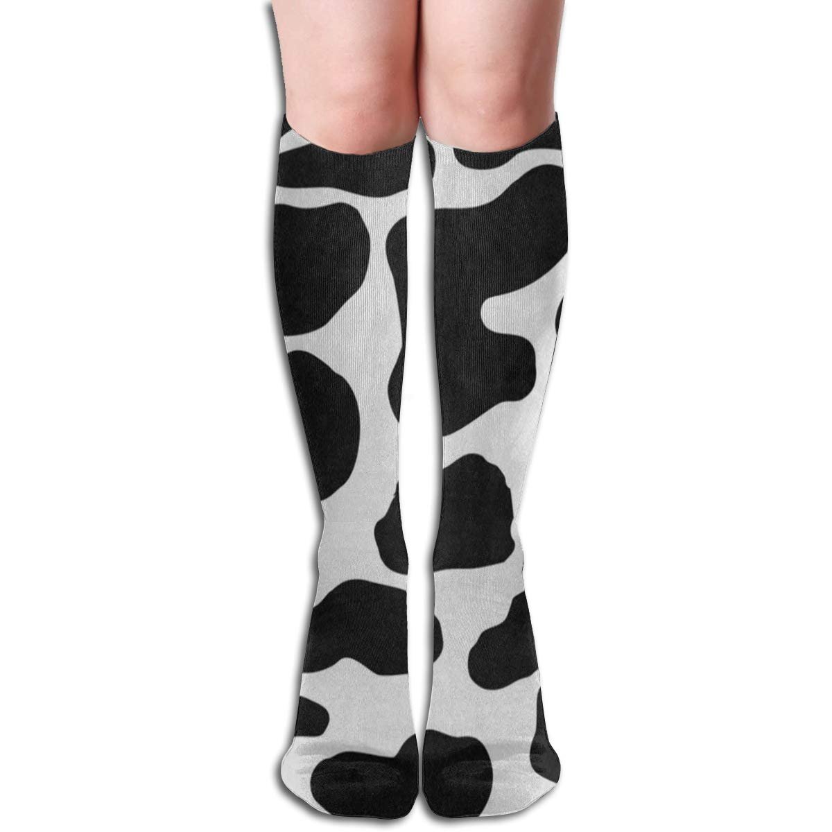 Women Knee High Cotton Boot Socks Sugar Skull Pink Poppy Flower Tall Boots Long Sock