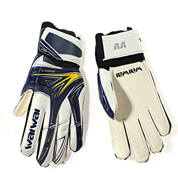 Soccer Goalkeeper Gloves Professional Football Goalie Gloves Goal keeper Gloves Finger Wear Non slip Protection Thickened   B07675R314