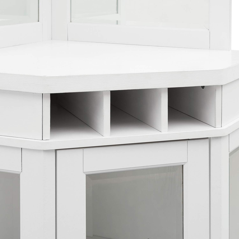 Home Source Corner Bar Unit Charcoal