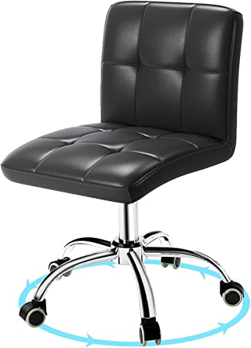 Computer Desk Chair,PU Leather Home Office Rolling Chair