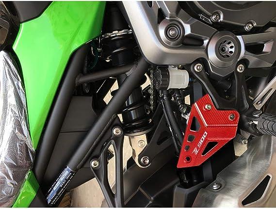 Nero Z900 Motociclo CNC Alluminio Protezione del Footpeg Copertura del Tallone per Kawasaki Z900 Z 900 2017 2018 2019