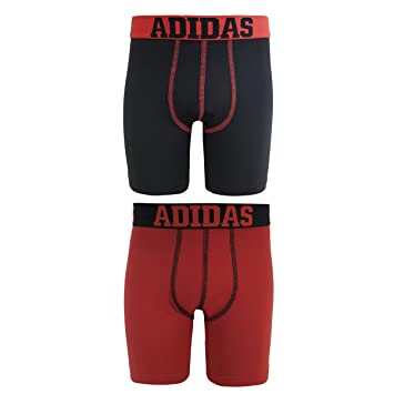 Amazon.com: adidas Boys' ClimaLite Boxer Brief (2 Pack): Sports ...