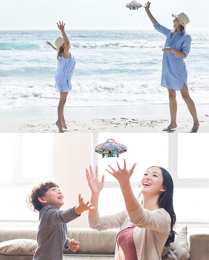 Flying Ball Toy, Cool UFO Hand-Controlled Drone Quadcopter Flying RC Toy for Boys Girls Valentines Gift,Colorful Flashing LED Lights Interactive Infrared Induction Helicopter Ball with 360Rotating by FUNSEA (Image #7)