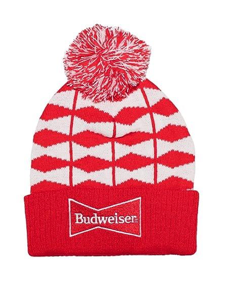 Budweiser Knit Beanie Hat Pom at Amazon Men s Clothing store  101c2de1410a