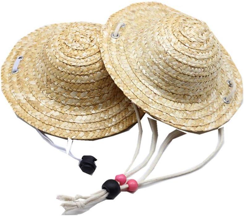Fully 2 X Accesorios para muñecas Sombrero de Paja Sombrero de Copa Sombrero para el Sol Accesorios para muñecas (Circunferencia de la Cabeza: 30 cm)