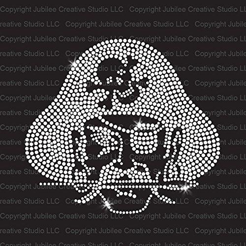 Halloween Rhinestone Iron Transfers (Pirate Mascot Iron On Rhinestone Crystal T-Shirt Transfer by JCS)