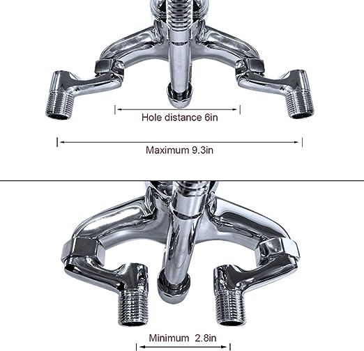 Oil Rubbed Bronze Swivel Spout Kitchen Sink Faucet Dual Handle Mixer Tap Pnf318