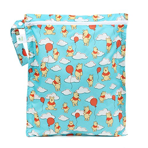 [Bumkins Disney Baby Zippered Wet Bag, Winnie The Pooh Balloon] (Winnie Pooh Baby Costume)