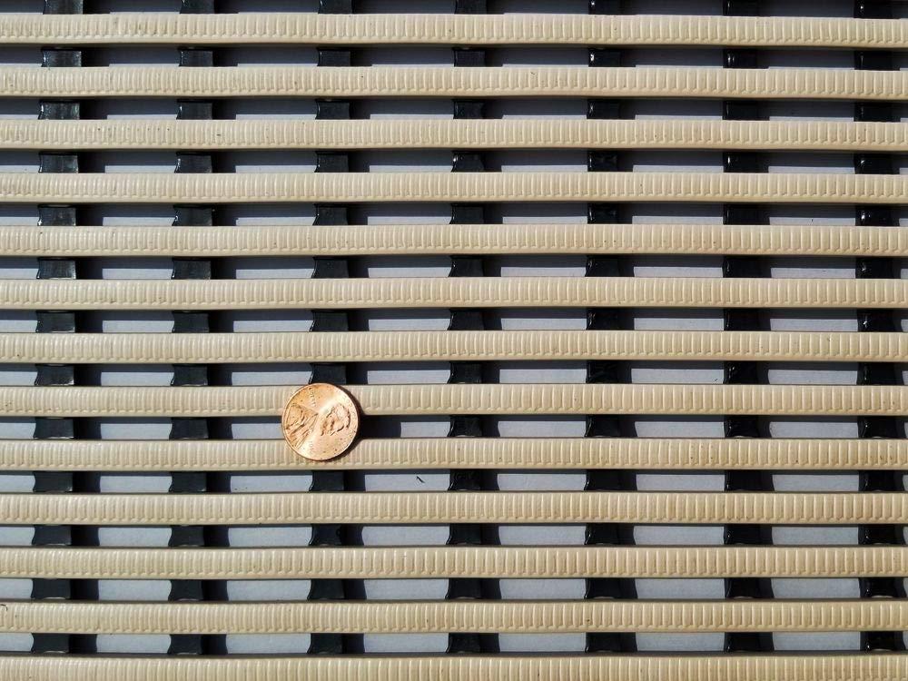 2 x 4, Tan, 1 VinGrate Mat Wet Area Floor Matting for Swimming Pool Shower//Locker Room Bathroom Sauna SPA 4-Way Water Drain Indoor//Outdoor Use 3//8 Thick Non-Slip Comfortable on Barefoot