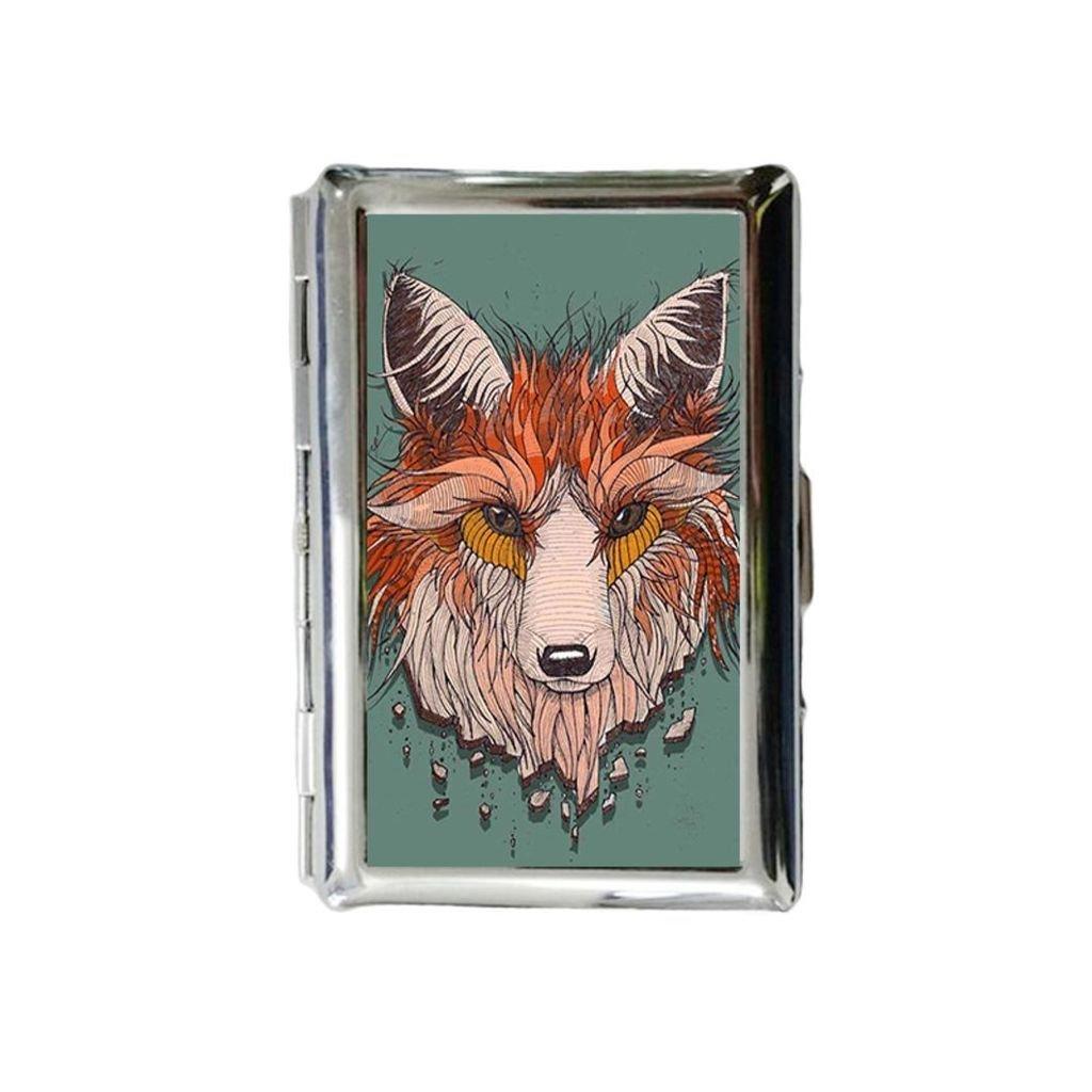 Fox Tattoo - Funda de metal para cigarrillos, diseño de tatuaje de ...