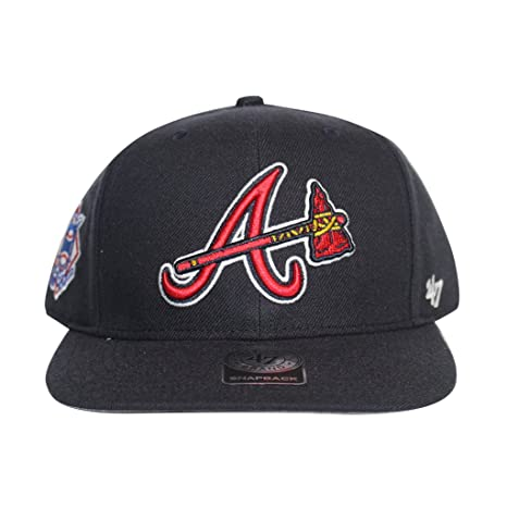 Amazon.com   Atlanta Braves MLB Navy Sure Shot 47 Brand Captain ... 6f82e8c6ae8