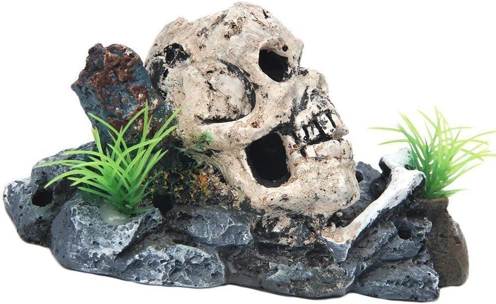 Ogquaton Aquarium Landscaping Artificial Aquatic Fish Tank Decorative Rockery Landscaping Accessories Artificial Reptile Breeding Box Pet Tank Decorative Plants