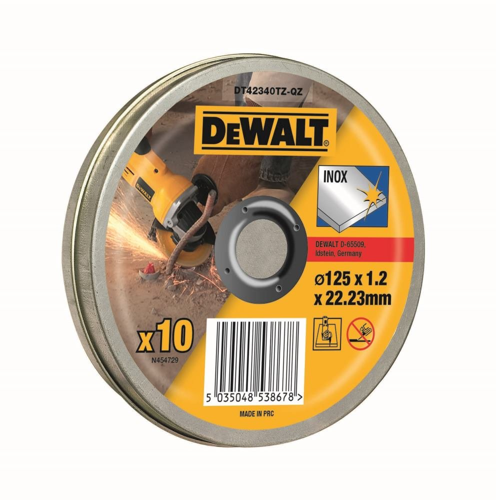 Gris 125 x 1,2 mm Dewalt DT42340TZ-QZ Disque /à Tron/çonner
