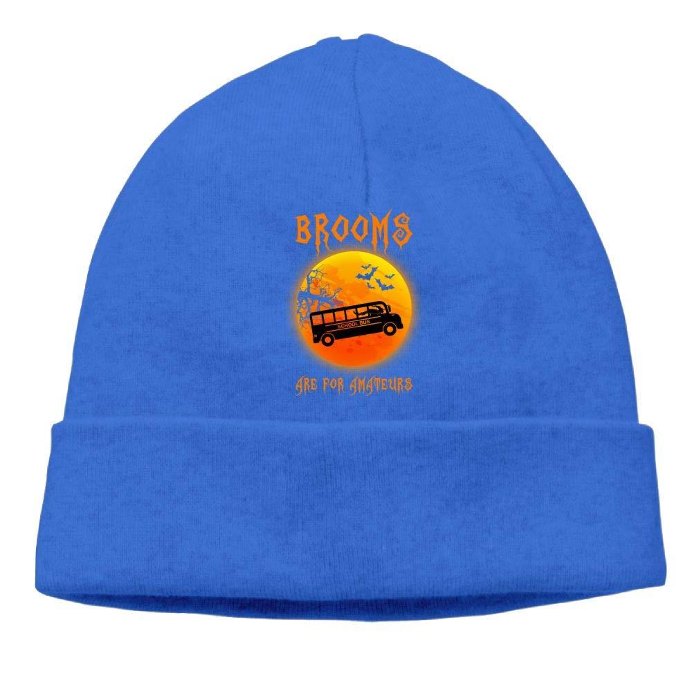 Oopp Jfhg Brooms are Amateurs Beanie Knit Hat Skull Caps Men RoyalBlue