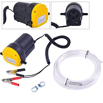 Amarine Made 12V 60W Oil Change Pump Extractor, Oil/Diesel Fluid Pump Extractor Scavenge Oil Change Pump Transfer Suction Transfer Pump + Tubes Truck Rv Boat ATV: Automotive
