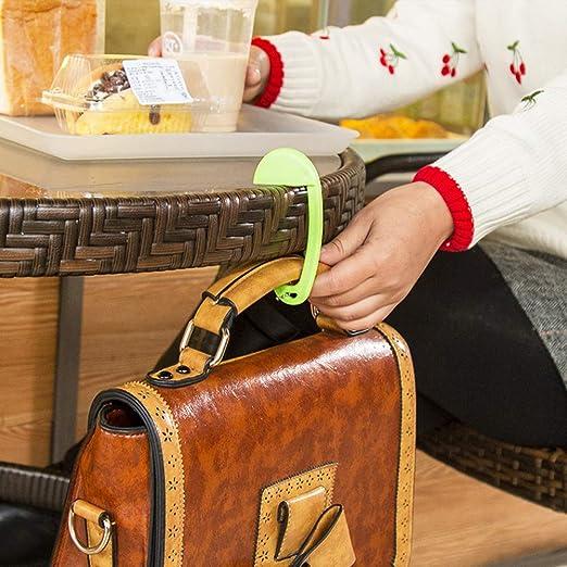 zsjhtc Portable Bag Holder Table Mini Hanger Removable Plastic Hook Purse Handbag Desk Decor Blue