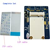 "ZIF to mSATA Adapter 1.8"" ZIF/LIF CE HDD Hard Disk Drive SSD to 26 Pin mSATA Adapter Converter"