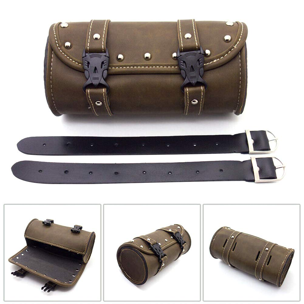Durevole Ajboy Polyurethane Leather Impermeabile Multifunzionale Borsa per Attrezzi da Moto in Pelle 21 * 10.3cm ad Alta capacit/à