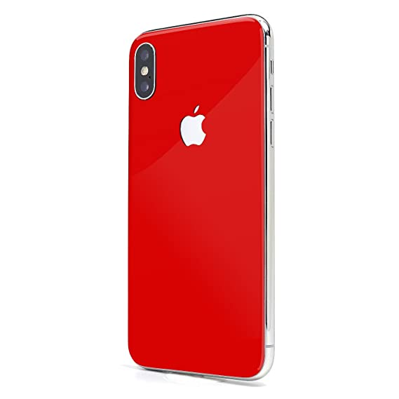 sports shoes a8754 c6b0f Cherry Red Gloss SKINTZ Glass Protection Skin Wrap Compatible with iPhone  Xs Max (6.5