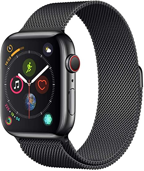 Apple Watch Series 4 (GPS + Cellular, 44mm) Stainless Steel Case with Milanese Loop
