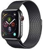 Apple Watch Series 4(GPS + Cellular款)- 44mm太空黑不锈钢表壳和太空黑镜面