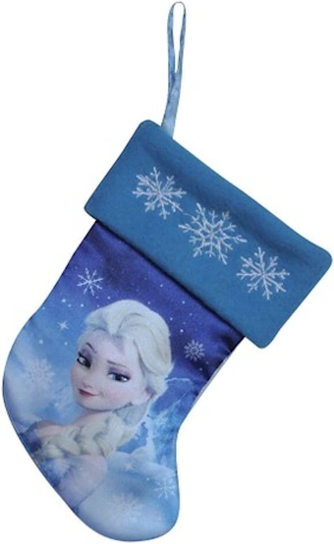 "Frozen 2 Elsa Anna Christmas Stocking 19/"" Long Sequins Snowflakes Disney"