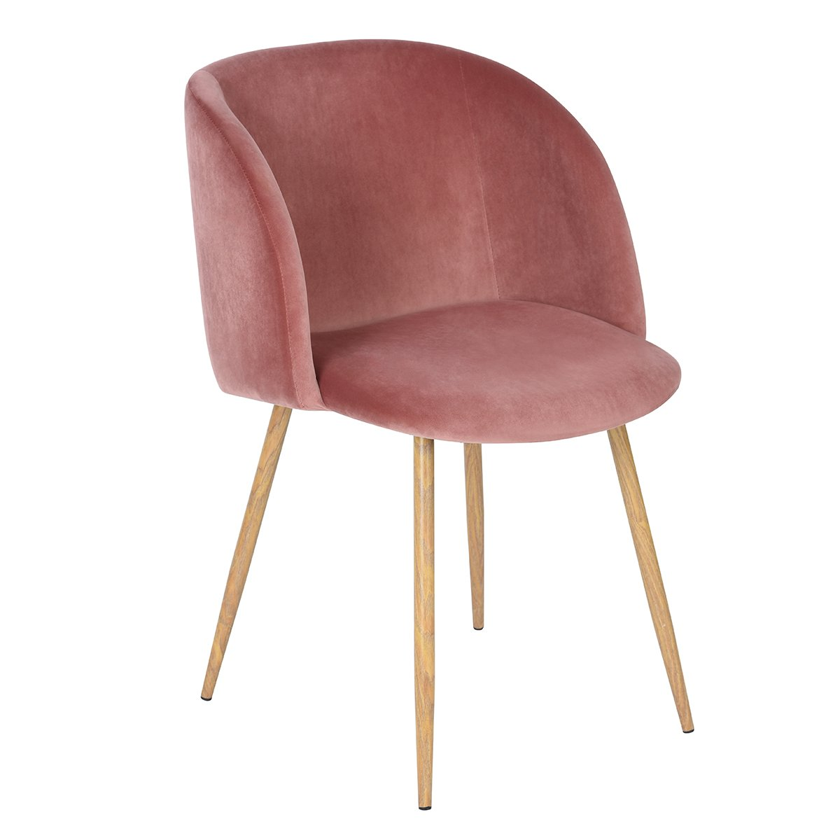 mid century living room velvet accent arm chairupholstered club chair with solid steel legs modern furniturerose pink - Arm Chairs Living Room