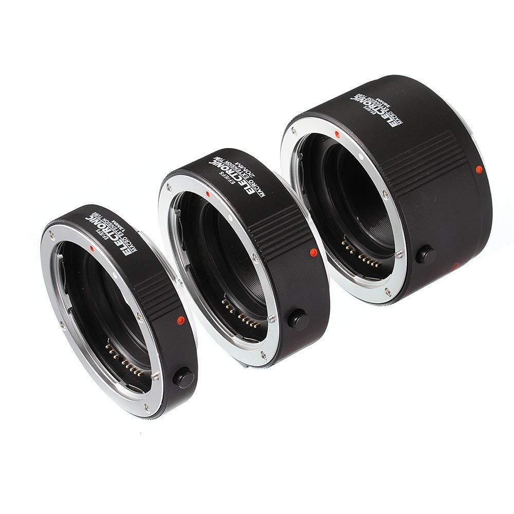 Fotga Electronic Auto Focus Macro Extension Tube Set for Canon EOS EF & EF-S Mount 5D2 5D3 5DIV 5DS 5DSR 6D II 7D/7DII 77D 80D 650D 750D 800D 1300D 1500D DSLR Cameras, 13mm+20mm+36mm Set by FOTGA