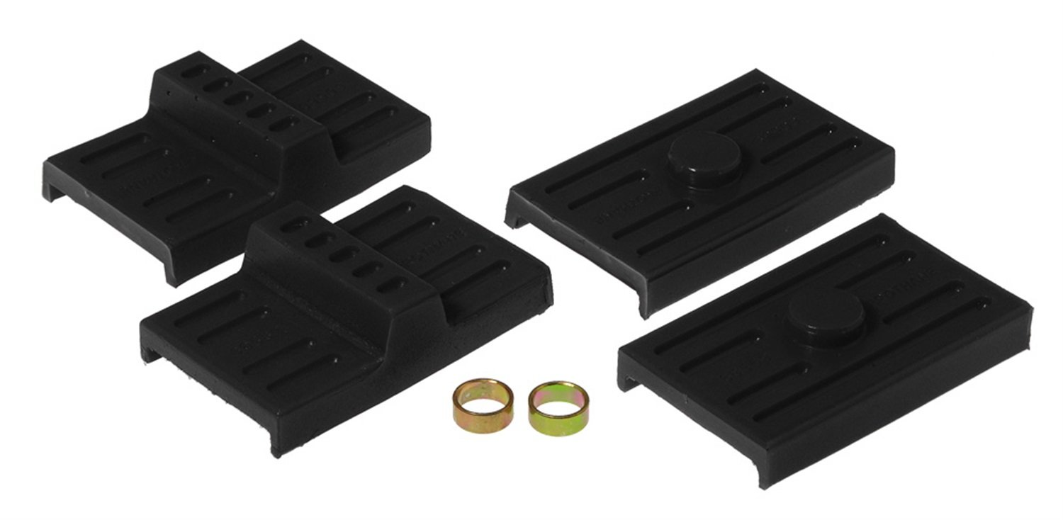 Prothane 7-1709-BL Black Rear Upper and Lower Multi Leaf Spring Pad Kit