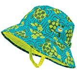 Turtle Baby Boy Sun Hat, Reverses to Lime Green, by Sun Smarties - Medium