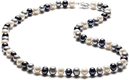 SilverLuxe Sterling Silver Genuine Freshwater Pearl Necklace 6-7mm 18