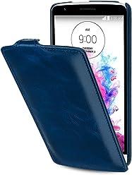 StilGut® UltraSlim Case, custodia in pelle per LG G3 Stylus, blu notte
