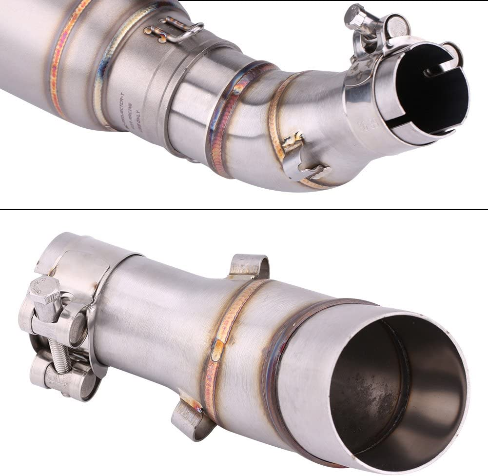 Yamaha R25 R3 2013-2016 Exhaust Pipe Connector Round Tail pipe connectorAdapter Motor Vehicle Exhaust Pipe Connector Stainless Steel Exhaust Pipe