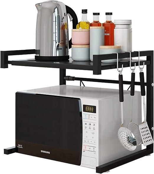 Amazon.com: Haotrend - Estante para microondas de acero al ...