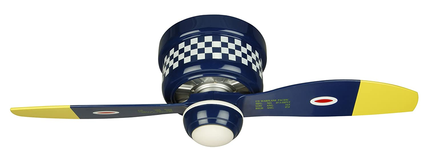 Craftmade flush mount ceiling fan wb448gg4 glamorous glen warplane craftmade flush mount ceiling fan wb448gg4 glamorous glen warplane 48 inch kids airplane hugger fan amazon aloadofball Image collections