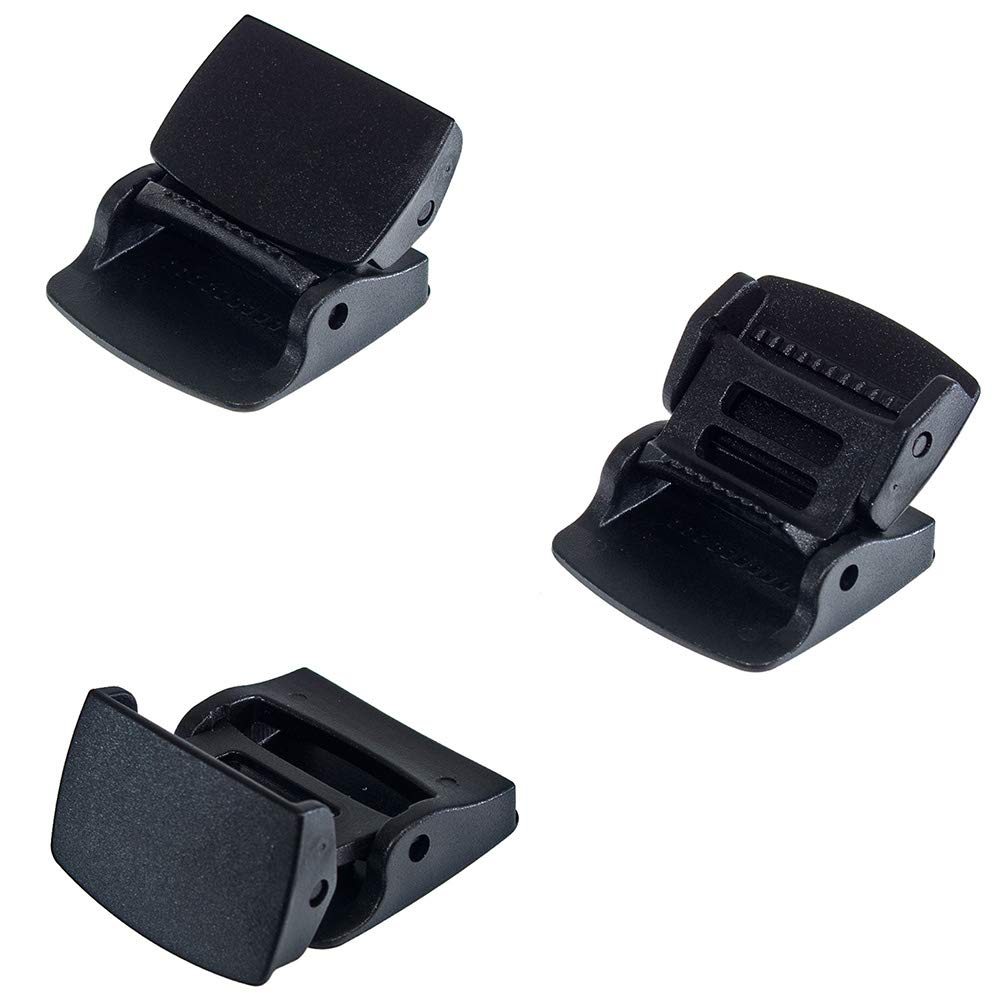 100 Pack of 1 Inch Cam Lock Lever Plastic Buckles - Great for Webbing, Straps, Backpacks, Purses, Belts by West Coast Paracord