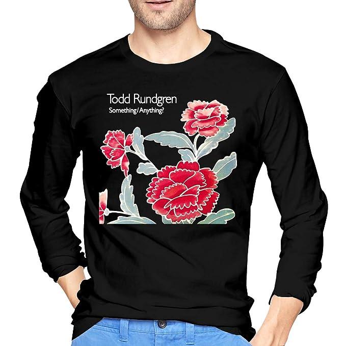 JeremiahR Mens Todd Rundgren Something Anything Long Sleeve Tees Black