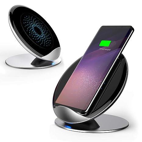 Aursen Qi Cargador Inalambrico Rapido para Samsung Note 8/S9 +/S9/S8 +/S8/S7/S7 Edge,Cargo Estándar para iPhone X/iPhone 8 + /Iphone 8 y Todos los ...