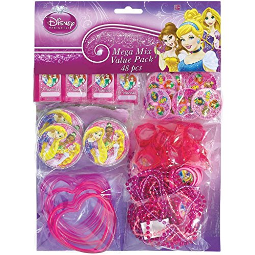 new-disney-princesses-birthday-party-supplies-48pc-mega-value-favor-pack